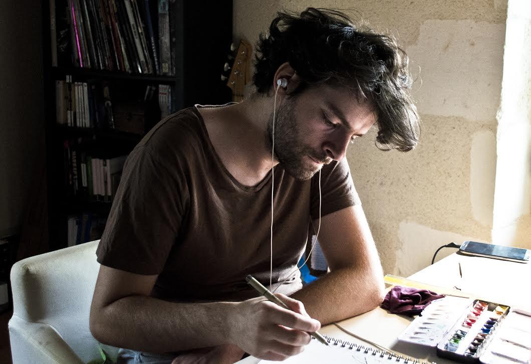 Yves Bonis au travail - portrait