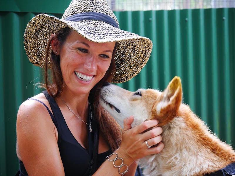 Jenny et son chien