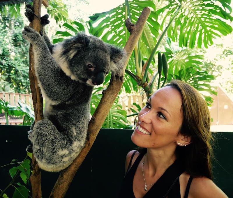 Jenny avec un koala