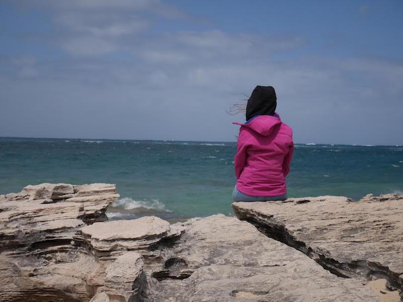 Jenny face à la mer