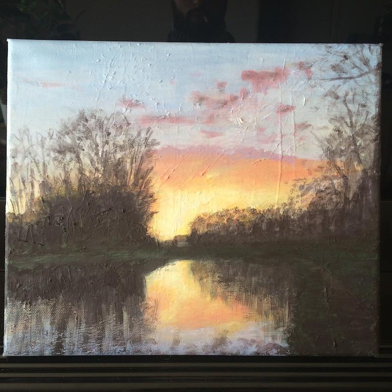 peinture à l'huile d'Antoine Nicolas
