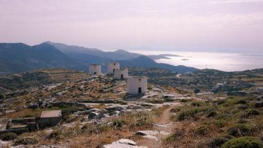 Les moulins de Chora à Amorgos - Grèce