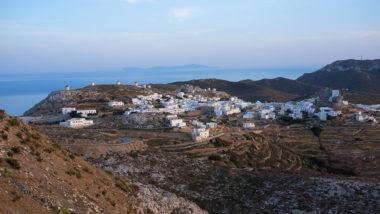 Vue du village de Chora à Amorgos - Grèce