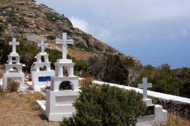 Le cimetière de Chora - Amorgos - Grèce