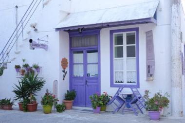 Une maison mauve à Katapola - Amorgos