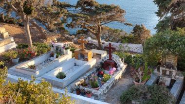 Le cimetière de Katapola - Amorgos - Grèce