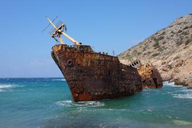 L'épave du Grand Bleu - Amorgos - Grèce