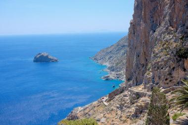 Vue de Agia Anna - la plage du Grand Bleu - Amorgos - Grèce