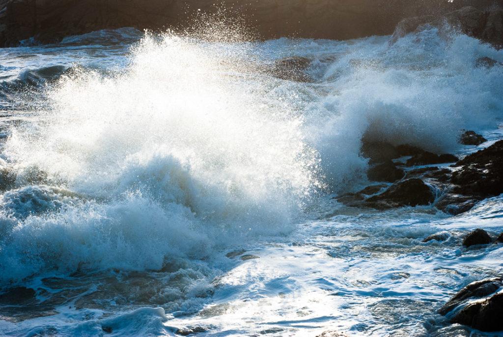 Tempête sur l'océan atlantique à Piriac sur mer