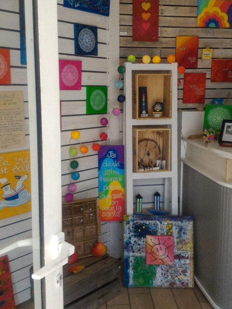 Vue de la boutique d'Ariane à Piriac sur mer - Joie de Vivre