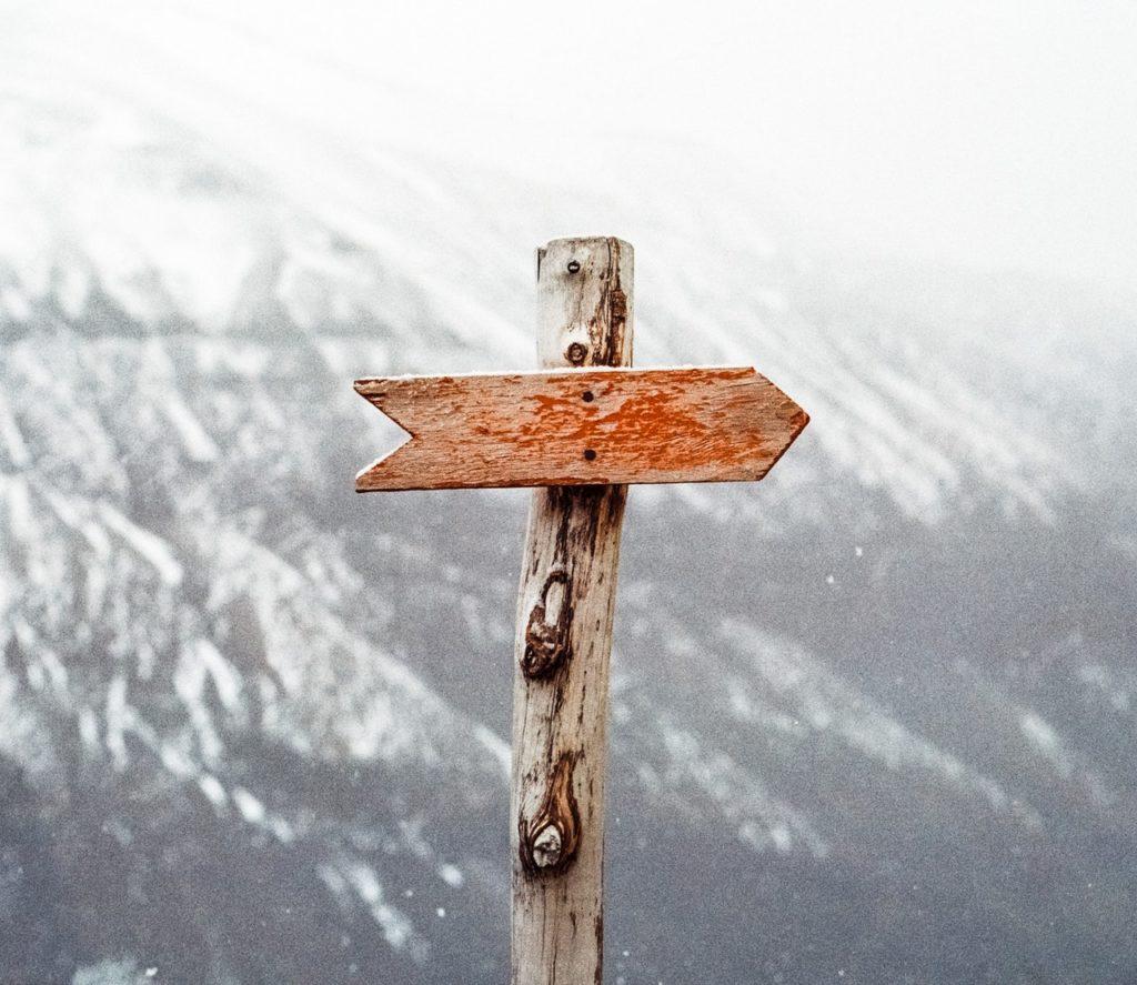 Flèche indiquant la direction