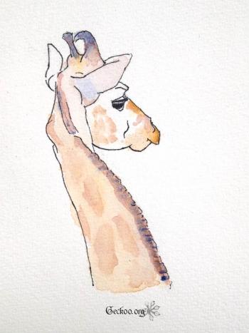 Girafe à l'aquarelle