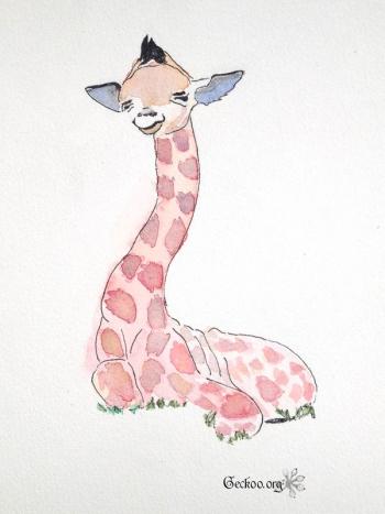 Girafon à l'aquarelle