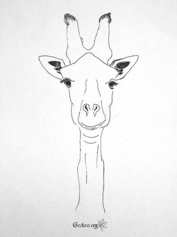Girafe au feutre