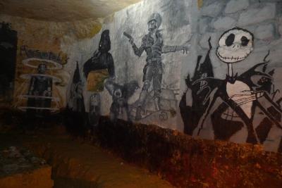 salle dans les catacombes