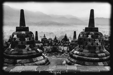 Petits stûpas de Borobudur, Java, Indonésie