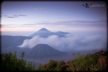 Caldeira du Tengger, mont Bromo, vue du Gunung Penanjaken, Java, Indonésie
