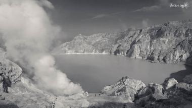 Le lac, Kawah Ijen, Java, Indonésie