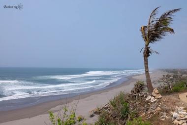 la plage à Parangtritis, Java, Indonésie