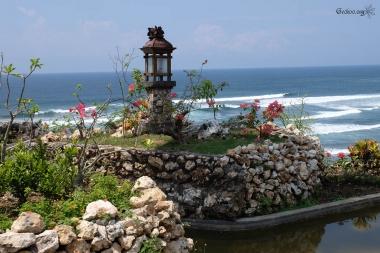Paysage de Parangtritis, Java, Indonésie